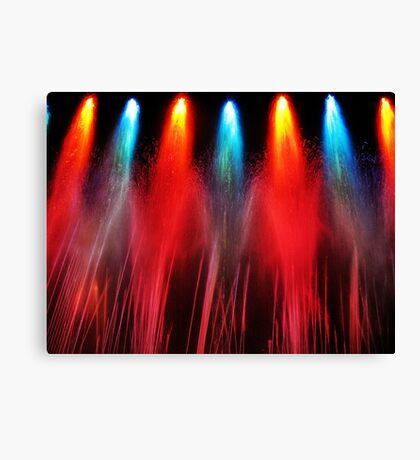 Liquid Fireworks Canvas Print