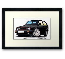 VW Golf GTi (Mk2) Black Framed Print