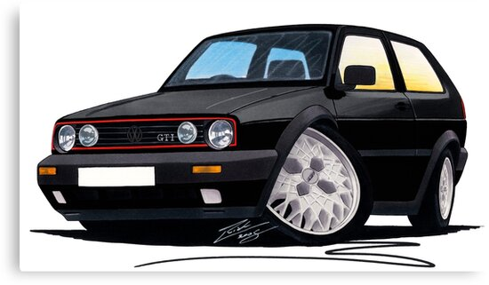 VW Golf GTi (Mk2) Black by Richard Yeomans