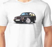 VW Golf GTi (Mk2) Black Unisex T-Shirt