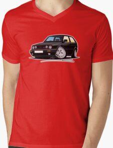 VW Golf GTi (Mk2) Black Mens V-Neck T-Shirt