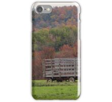 Typical fall on the farm  iPhone Case/Skin