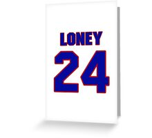 National Hockey player Troy Loney jersey 24 Greeting Card