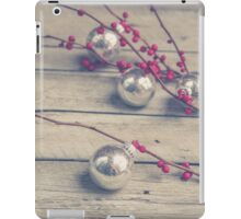 Holly Branch and Holiday Ornaments iPad Case/Skin