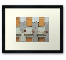 Empty House Abstract Framed Print