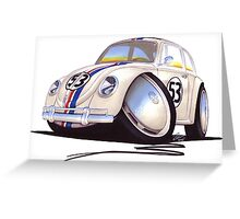 VW Beetle - Herbie Greeting Card