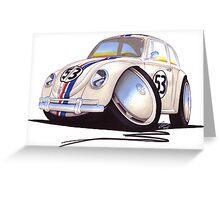 VW Beetle - Herbie Greeting Card