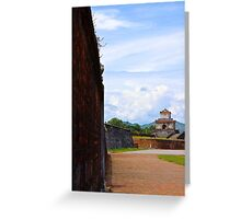 The Wall of The Imperial City - Hue, Vietnam. Greeting Card