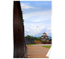 The Wall of The Imperial City - Hue, Vietnam. Poster