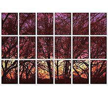 window pane sunset Photographic Print