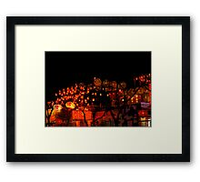 lamp street Framed Print