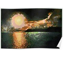 Midnight Sun in Advent Bay, Spitzbergen, Norway - all products bar duvet Poster