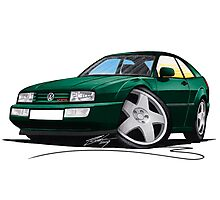 VW Corrado Green Photographic Print
