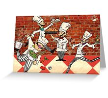 Mario Brothers, Italian Chefs Greeting Card