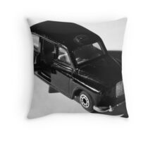 The little black taxi Throw Pillow