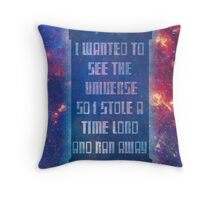 See the Universe Throw Pillow