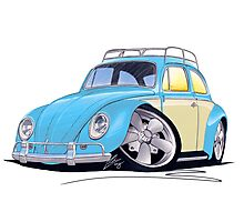 VW Beetle (Custom B) Photographic Print