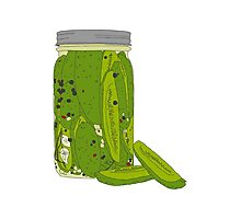 Jar of Pickles Photographic Print