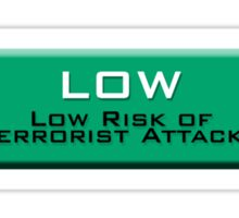 Low (Homeland Security Advisory System chart) Sticker