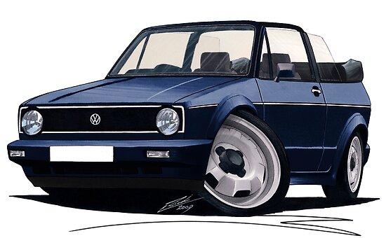VW Golf (Mk1) Cabriolet Dark Blue by Richard Yeomans