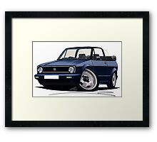 VW Golf (Mk1) Cabriolet Dark Blue Framed Print