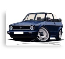 VW Golf (Mk1) Cabriolet Dark Blue Canvas Print