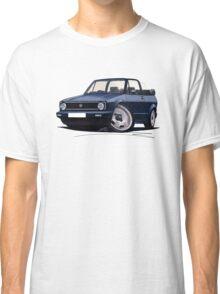 VW Golf (Mk1) Cabriolet Dark Blue Classic T-Shirt