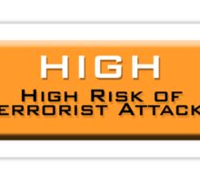 High (Homeland Security Advisory System chart) Sticker