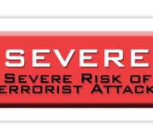 Severe (Homeland Security Advisory System chart) Sticker