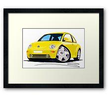 VW New Beetle Yellow Framed Print