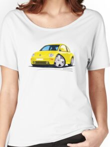 VW New Beetle Yellow Women's Relaxed Fit T-Shirt