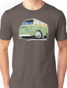 VW Bay Window Camper Van Light Green Unisex T-Shirt