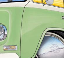 VW Bay Window Camper Van Light Green Sticker