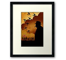 London Series - W. Churchill and the WW2 Framed Print
