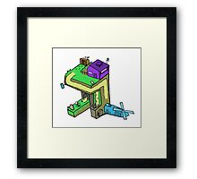 Perspective-Windmill Framed Print
