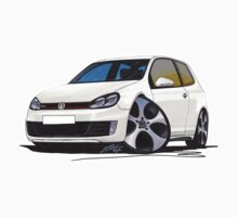 VW Golf GTi (Mk6) White Kids Tee