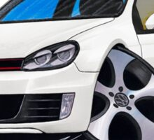 VW Golf GTi (Mk6) White Sticker