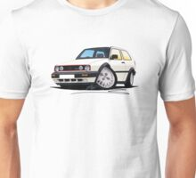 VW Golf GTi (Mk2) White Unisex T-Shirt