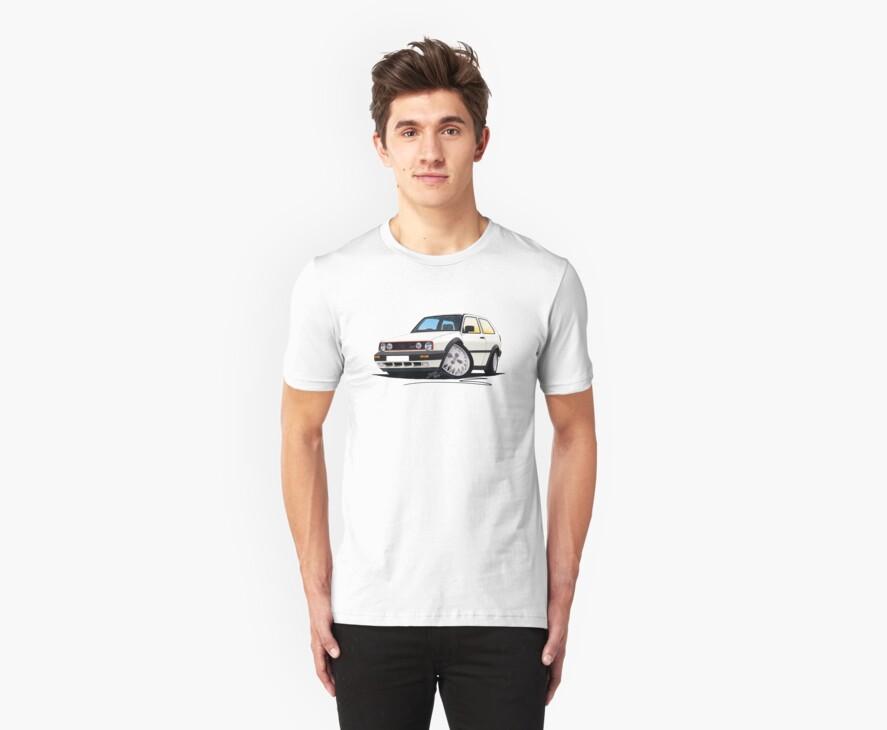VW Golf GTi (Mk2) White by Richard Yeomans