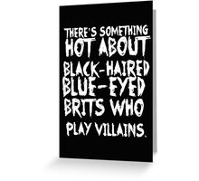British Villains II Greeting Card