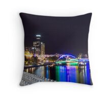 Melbourne by Night Throw Pillow