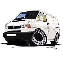 Volkswagen T4 Transporter (Bumper) White Photographic Print