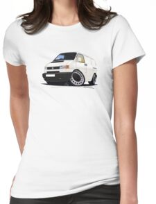 Volkswagen T4 Transporter (Bumper) White Womens Fitted T-Shirt