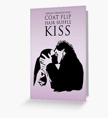 Sherlock and Molly Kiss Greeting Card
