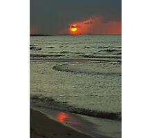 Rain Shrouded Sunset. Photographic Print