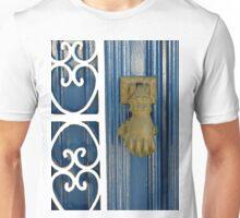 blue door knock Unisex T-Shirt
