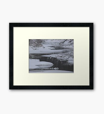 Winter Water Framed Print
