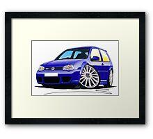 VW Golf (Mk4) R32 Blue Framed Print