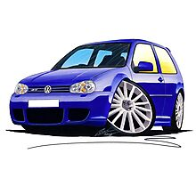 VW Golf (Mk4) R32 Blue Photographic Print