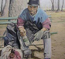"""Homeless John"" by Nathaniel (nick)  crump"